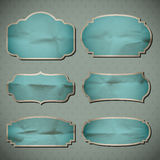 Crumpled paper frames Royalty Free Stock Images