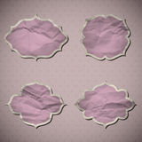 Crumpled paper frames Royalty Free Stock Photos
