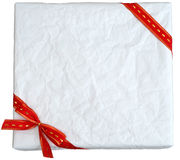 Crumpled paper gift box Royalty Free Stock Photography