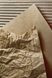 Crumpled paper and goffered csrdboard textures Stock Photo