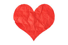 Crumpled paper heart Royalty Free Stock Image