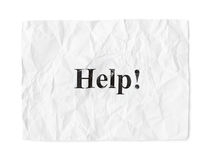 Crumpled paper Help Royalty Free Stock Image