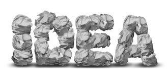 Crumpled Paper Idea Stock Photos
