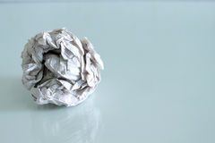 Crumpled paper. On isolated stock images
