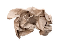 Crumpled paper isolated over white Royalty Free Stock Image