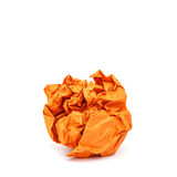Crumpled paper isolated on white Royalty Free Stock Photography