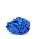 Crumpled paper isolated on white Stock Photo