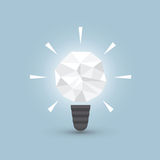 Crumpled paper light bulb, Idea concept Stock Images