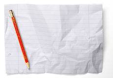 Crumpled paper with lines Stock Photos