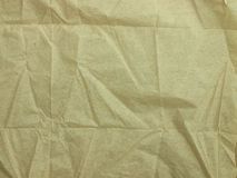 Crumpled paper napkin Royalty Free Stock Photography
