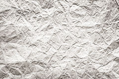 Crumpled paper. Old white handmade crumpled paper texture background royalty free stock images