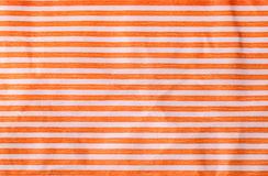 Crumpled paper with orange stripes Stock Image