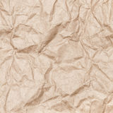 Crumpled paper for package.  Old brown Royalty Free Stock Image