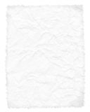 Crumpled paper page isolated on white Stock Photo