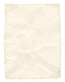 Crumpled paper page isolated on white Royalty Free Stock Photos
