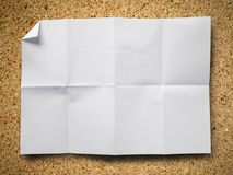 Crumpled paper on Particle board Royalty Free Stock Photos