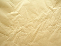 Crumpled paper. Photo of a sheet a packing paper that has been crumpled royalty free stock images