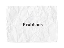 Crumpled paper Problems Royalty Free Stock Photo