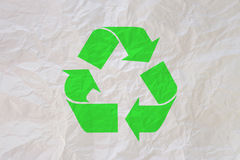 Crumpled paper of recycle Royalty Free Stock Photography