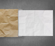 Crumpled paper from recycle envelope  background Stock Photos