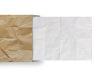 Crumpled paper from recycle envelope  background Royalty Free Stock Photo