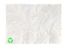 Crumpled paper of recycle isolated Stock Image