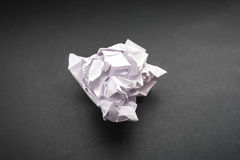 Crumpled paper. Selective focus. Stock Image