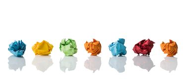 Crumpled paper symbolizing different solutions Stock Photography