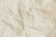 Crumpled paper texture. stock image