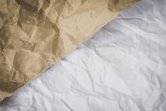Crumpled paper texture. Abstract crumpled paper texture background royalty free stock images