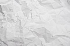 Crumpled paper texture. Abstract texture from sheet of white crumpled paper Royalty Free Stock Photo