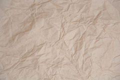 Crumpled paper texture. For background Royalty Free Stock Image