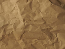 Crumpled paper texture. Crumpled paper or cardboard background, natural material or recycling concept Royalty Free Stock Photo