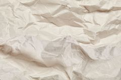 Crumpled paper texture. Close Up Stock Photography