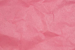 Crumpled paper texture Pink paper sheet. Royalty Free Stock Image
