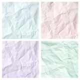 Crumpled paper texture set Stock Image