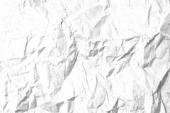 Crumpled paper texture template for overlay Stock Images