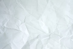 Crumpled paper texture. The white crumpled paper texture Royalty Free Stock Photo