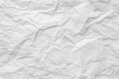 Crumpled paper texture Stock Photo