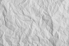 Crumpled paper texture. Royalty Free Stock Images