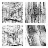 Crumpled paper textures set with halftone Royalty Free Stock Image