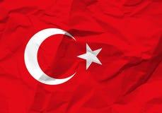 Crumpled paper Turkey flag Stock Image