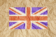 Crumpled Paper UK Flag Royalty Free Stock Image
