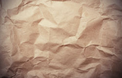 Crumpled paper vintage Royalty Free Stock Photos