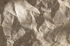 Crumpled Paper Wallpaper. wrinkle recycle paper background. For designers stock photo