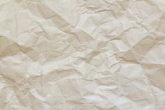 Crumpled Paper Wallpaper. wrinkle recycle paper background. For designers royalty free stock image