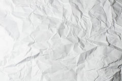 Crumpled paper. White crumpled paper texture for background Royalty Free Stock Image
