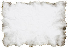 Crumpled Paper With Burnt Edges Royalty Free Stock Photography