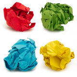 Crumpled papers Stock Image