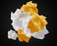 Crumpled papers Royalty Free Stock Photos